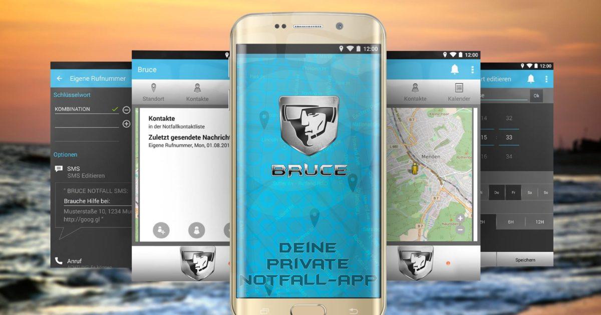 Im Notfall hilft: Bruce Notfall App